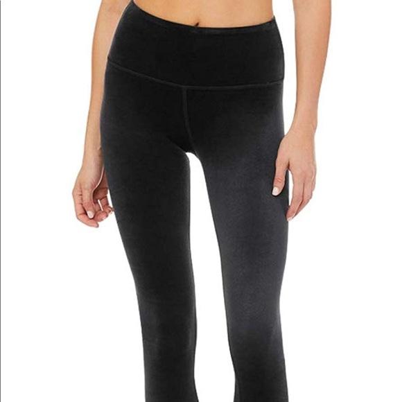 8eb1ebfef40b3 ALO Yoga Pants   Alo High Waist Posh Legging Velvet   Poshmark